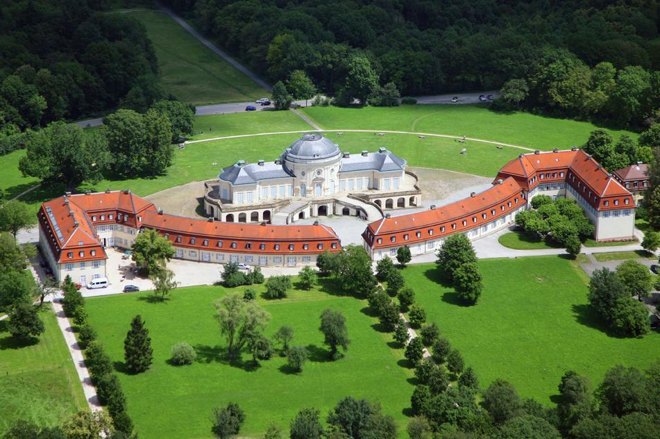 Aerial view of Solitude Palace. Image: Staatliche Schlösser und Gärten Baden-Württemberg, Achim Mende
