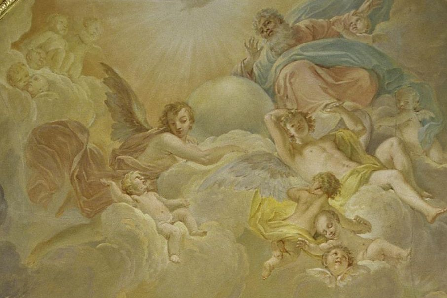 Solitude Palace, Ceiling Painting