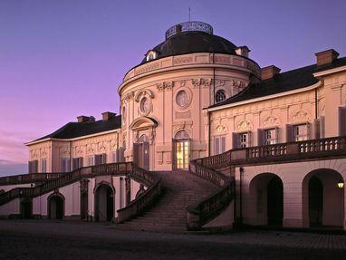 Schloss Solitude am Abend