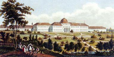 Engraving of Hohenheim Palace in Stuttgart-Hohenheim. Image: Landesmedienzentrum Baden-Württemberg, Dieter Jäger
