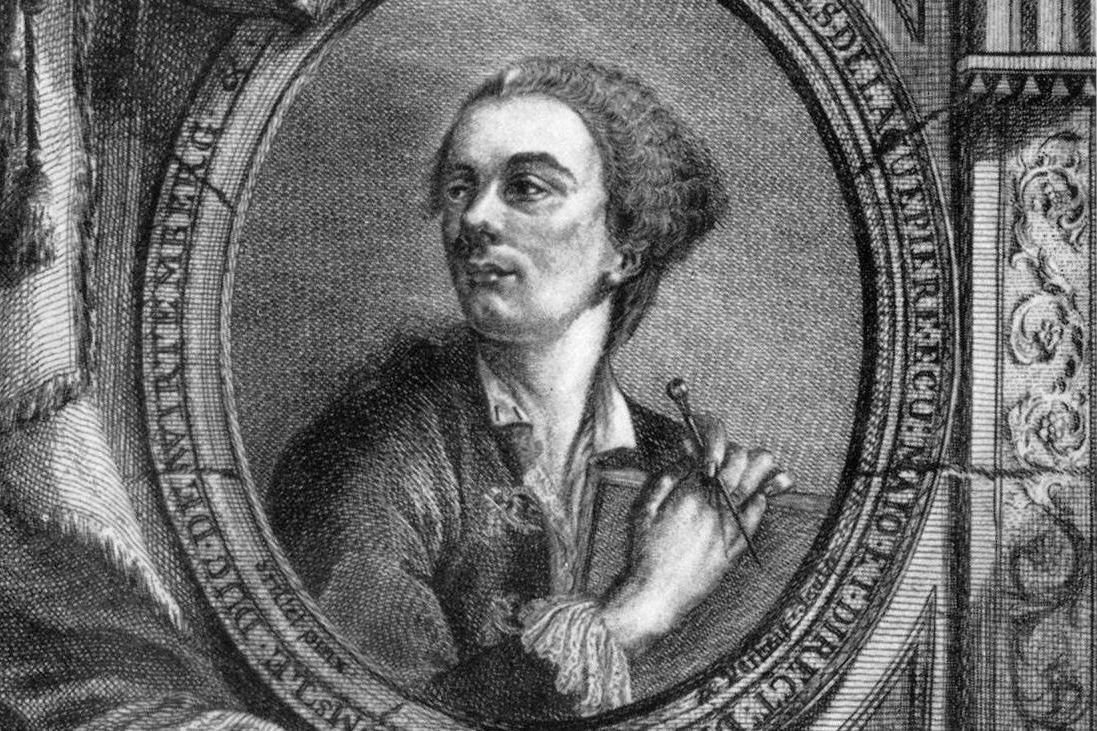 Philippe de La Guêpière, Projets d'architecture, Frontispiz, Stuttgart Cotta 1752