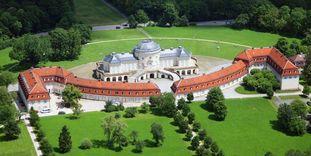Luftansicht von Schloss Solitude