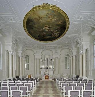 Inside the chapel of Solitude Palace. Image: Staatliche Schlösser und Gärten Baden-Württemberg, Andrea Rachele
