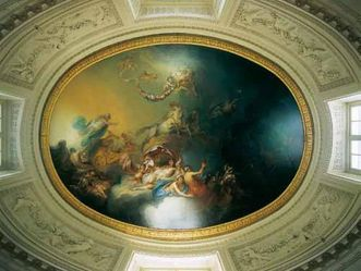 Image: Schwetzingen Palace and Gardens, ceiling painting in the bath house