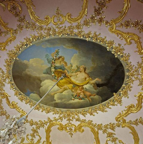 Solitude Palace, Painted ceiling in the palm room
