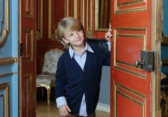 Junge an Saaltür, Schloss Solitude