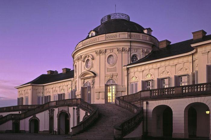 Ansicht von Schloss Solitude