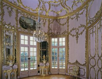 Palmenzimmer im Appartement von Herzog Carl Eugen in Schloss Solitude, Foto: Staatliche Schlösser und Gärten Baden-Württemberg, Andrea Rachele
