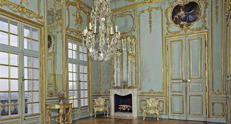 Vorzimmer im Appartement von Herzog Carl Eugen in Schloss Solitude, Foto: Staatliche Schlösser und Gärten Baden-Württemberg, Andrea Rachele