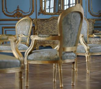 Image: Gilded chairs in Solitude Palace
