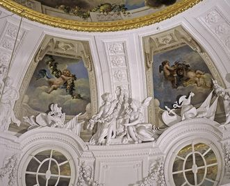 Detail of the cavetto in the White Hall of Solitude Palace. Image: Staatliche Schlösser und Gärten Baden-Württemberg, Andrea Rachele