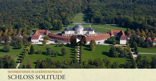 """Startbildschirm des Filmes """"Schloss Solitude: Informationen in Gebärdensprache"""""""