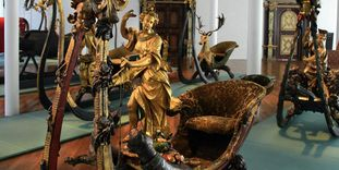 Sleighs from the ducal collection in Urach Palace.