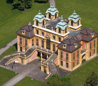 Ludwigsburg Favorite Palace, aerial view. Image: Staatliche Schlösser und Gärten Baden-Württemberg, Achim Mende