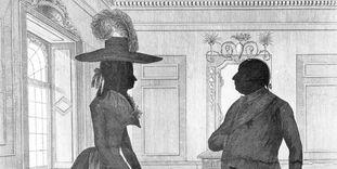 Herzog Carl Eugen und Herzogin Franziska, Schattenriss-Radierung von 1787.