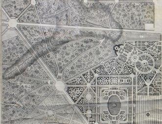 Plan von Schloss Solitude